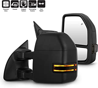 G4 LED Smoked Signal Fits 1999-2007 Ford F250/F350/F450/F550 SuperDuty Power Adjust Heated Tow Mirrors Left+Right Pair
