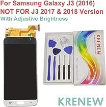 Touch Screen Replacement Digitizer Glass LCD & Repair Tools Kit for Samsung Galaxy J3 (2016) SM-J320A J320AZ J320R4 J320P J320W8 J320ZN J320F (White + Adjustable Brightness)