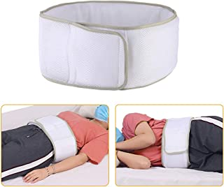 Lumbar Pillow For Sleeping Support Lumbar Sleep Roll Hip Pain Relief Bed Back Support For Lower Back Waist Sciatica Lying Side Sleeper Wedges- Adjustable Height (White)