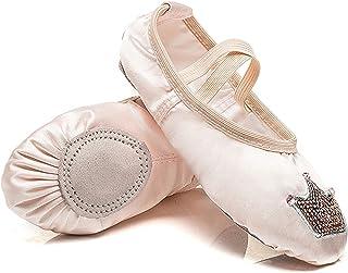 AGYE Zapatillas de Ballet, Zapatillas de Ballet para Niñas,Zapatillas de Ballet de Satén Rosa, Zapatillas de Ballet para N...