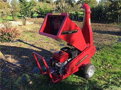 Petrol Garden Chipper | 15HP Petrol Shredder Mulcher | Beaver Chipper Titan Pro