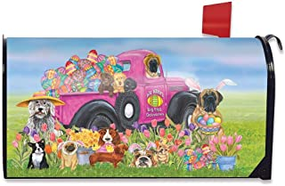 Briarwood Lane Easter Dogs Holiday Humor Magnetic Mailbox Cover Decorated Eggs