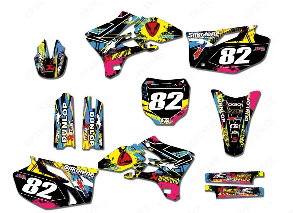 KINWAT Graphics Dallas Mall Limited time sale Personalised Stickers Kits for Motorcycle Decos
