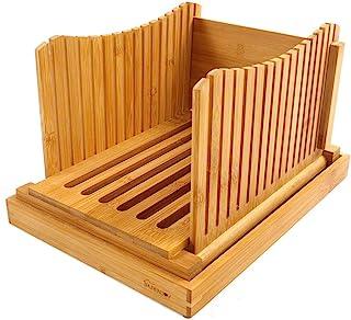 bambú Rebanadora de pan Plegable y comprimido Ajustable Gu