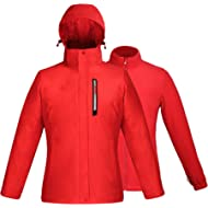Women Winter Jackets Waterproof Windproof Rain Coat Detachable Hood Thermal Lining for Outdoor...