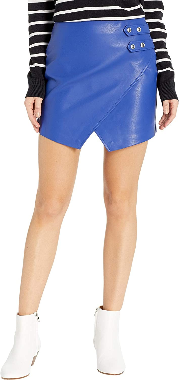[BLANKNYC] Blank NYC Womens Vegan Leather Mini Skirt in bluee My Mind