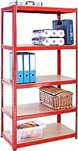 0034MALLET Opslagrek, 180 x 90 x 45 cm, 5 etages, 265 kg per plank, robuust, 1325 kg draagvermogen, 5 jaar garantie, 0034M...
