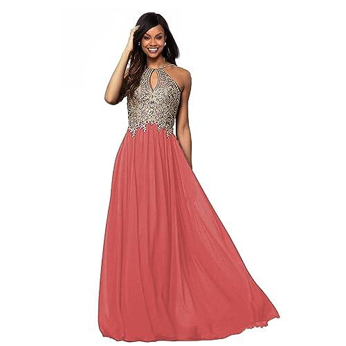 Dark Coral Bridesmaid Dresses