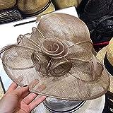 Plegable y Ajustable Dressy Iglesia Bautismo Boda Derby Hat Sombreros de boda para las mujeres Red Vintage Sombreros nupciales Negro Blanco Boda Accesorie Novias Fascinador Velo de novia, 6 colores