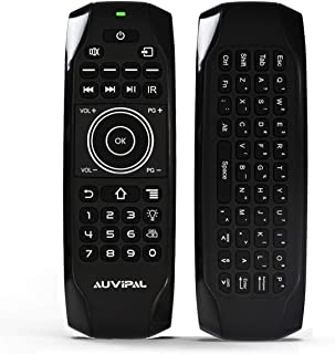 AuviPal G9F Mini Bluetooth Keyboard Remote Combo, Rechargeable Backlit Wireless Remote Control Includes 11 IR Learning But...
