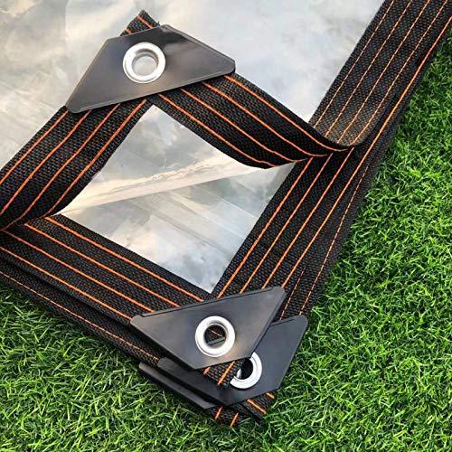 Lona transparente impermeable y antienvejecimiento, lámina de lona de polietileno transparente, resistente al agua, tela de lona para plantas, invernadero y mascotas, 125 G/㎡