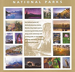 US Stamp - 2016 National Parks Centennial 16 Forever Stamp Sheet #5080