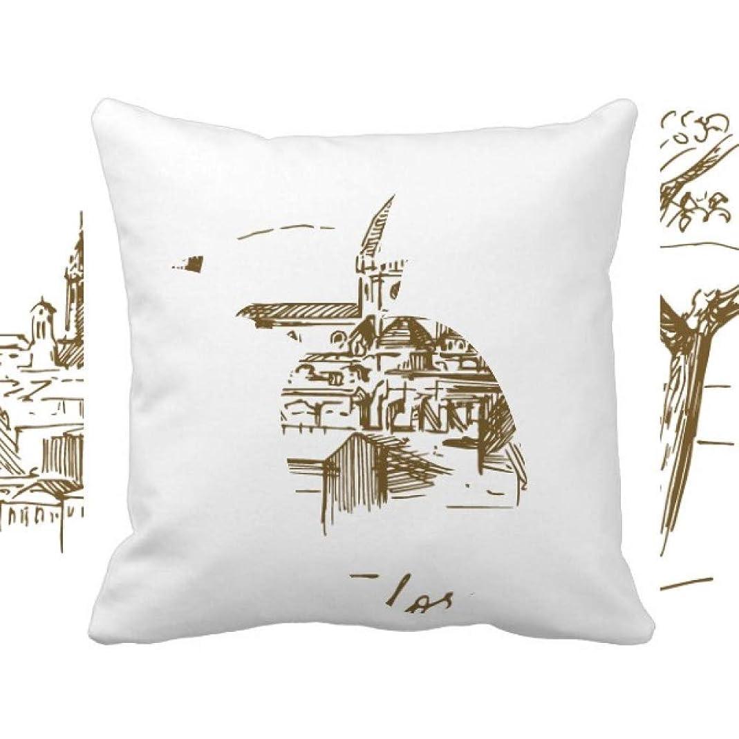 やさしく債権者テメリティフィレンツェ大聖堂イタリアパターン パイナップル枕カバー正方形を投げる 50cm x 50cm