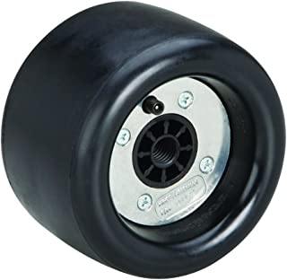 Dynabrade 94472 5-Inch Diameter by 3-1/2-Inch Wide Standard Dynacushion Pneumatic Wheel, Black