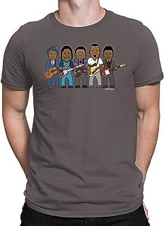 vipwees - Blues Legends - Mens Music Caricature T-Shirt