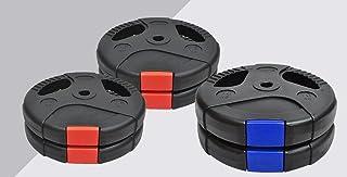 Weight Plates 50kg - Weight Plates Set 10KGx2 + 7.5KGx4 - Standard 26.5mm - Dual Grip Ez Handle PVC Coated - Weight Traini...