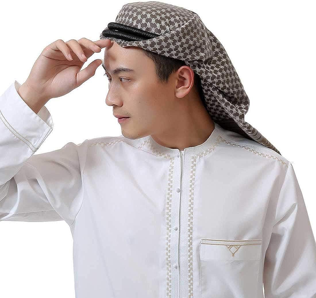 Adult Men Arab Head Scarf Keffiyeh Middle East Desert Shemagh Wrap Muslim Headwear Arabian Costume Accessories (Army Green) : Clothing, Shoes & Jewelry