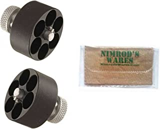 Nimrod's Wares Two-Pack HKS Speedloader .38 .357 S&W Dan Wesson Charter Taurus 10A Microfiber Cloth