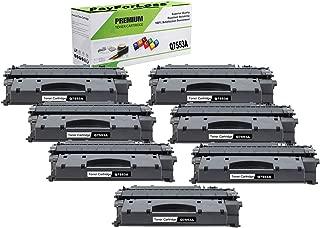 PayForLess Compatible 53A Q7553A Toner Cartridge Black 7PK for HP Laserjet P2014 P2015 P2015d P2015dn M2727nf