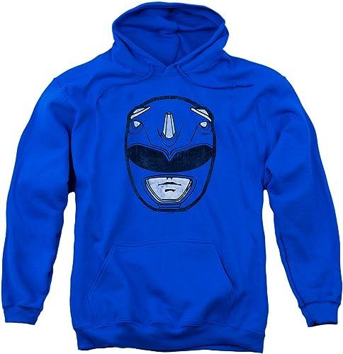 Power Rangers - - Sweat à Capuche Bleu Ranger Mask Homme