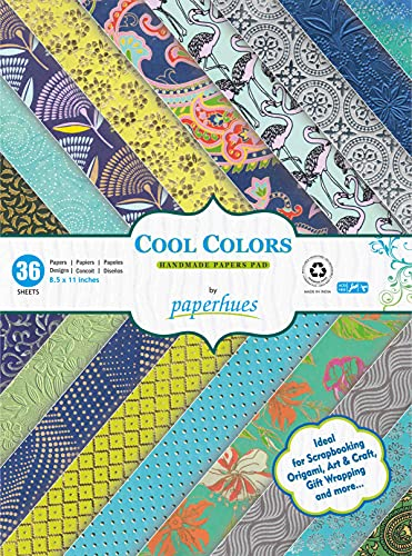 Paperhues Cool Colors Collection Scrapbook Papers 8.5x11