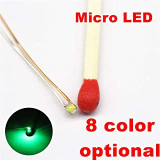25pcs Pre-soldered Micro Litz Wired Leads Green SMD Led 0603 + Muti-Resistor New