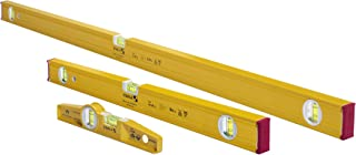 """STABILA 29824 Type 80 AS-2 Spirit Levels Pro Set 24""""/48"""" and Type 81 SM 10"""" Die Cast Magnetic Torpedo, Slim, Stable and Ha..."""