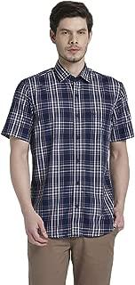 Colorplus Checkered Dark Blue Coloured Cotton Shirt