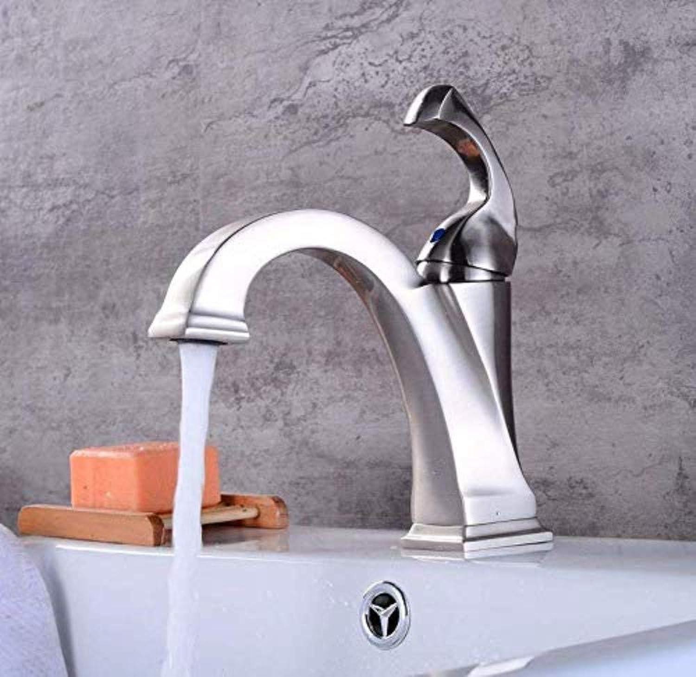 Küchenarmaturen küchenarmatur wasserhahn modern gebürstetem heiem und kaltem wasser, keramikhahn, ventil einlochmontage