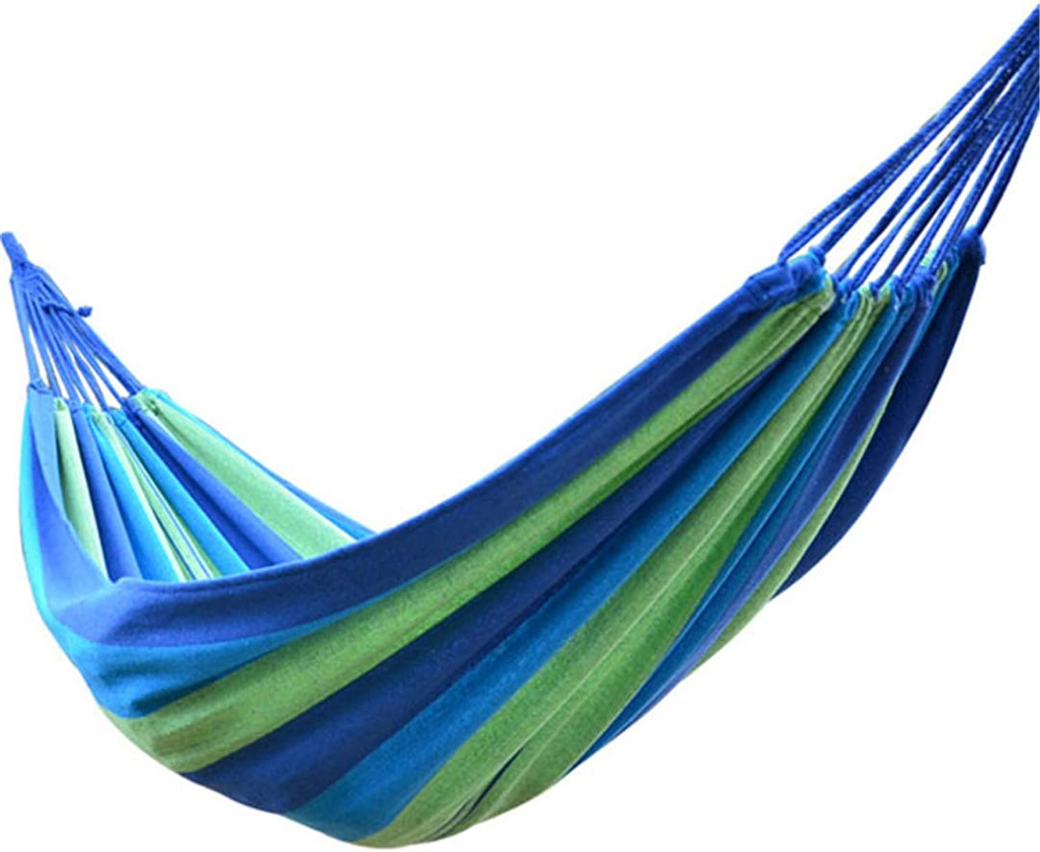 Portable Outdoor Hammock Hanging Bed for Travel Camping Hiking Swing Canvas Stripe Hammock