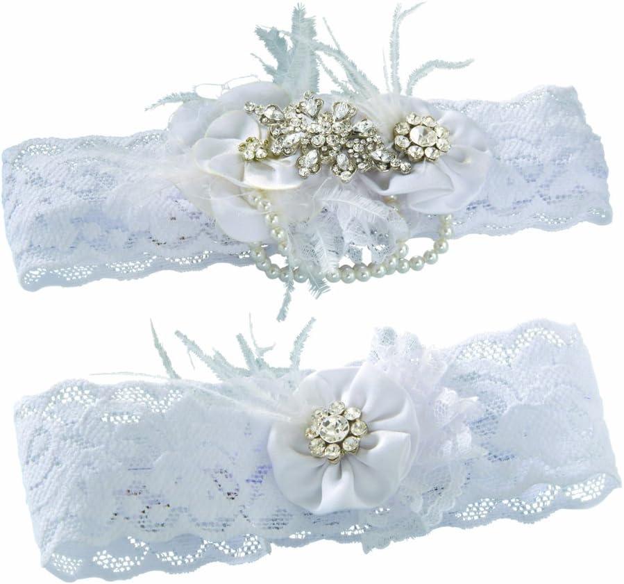 Regular discount Ivy Lane Design Very popular Vintage Rhinestone Pearl S Wedding Garter Bridal