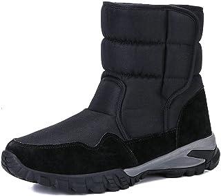 JIU SI Hommes Boots Crochet & Loopwinter Chaussures Épaissir Fourrure De Neige imperméable Bottes d'hiver Hommes (Size : 42)