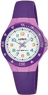 Lorus 30mm Purple Silicone Band Plastic Case Quartz White Dial Watch R2349MX9