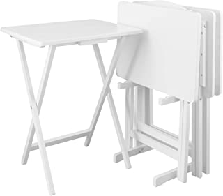 Casual Home 5pcs Set-White Tray Table,