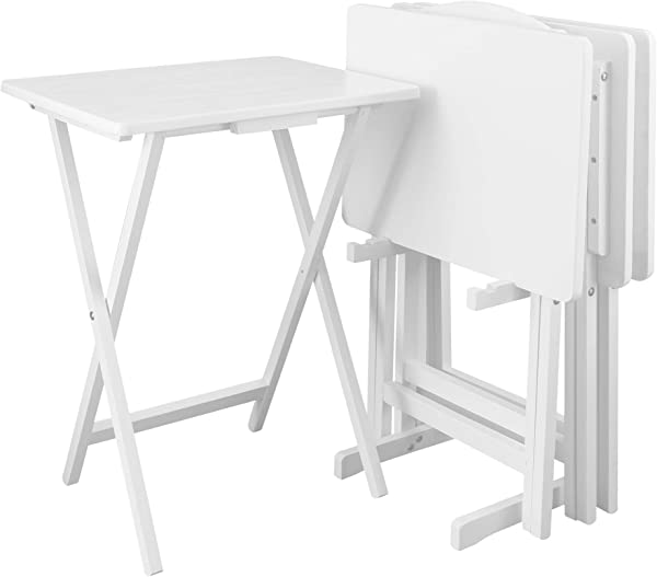 Casual Home 660 41 5pcs Set White Tray Table