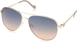 Women's J5596 Metal Aviator Sunglasses with Signature JS...