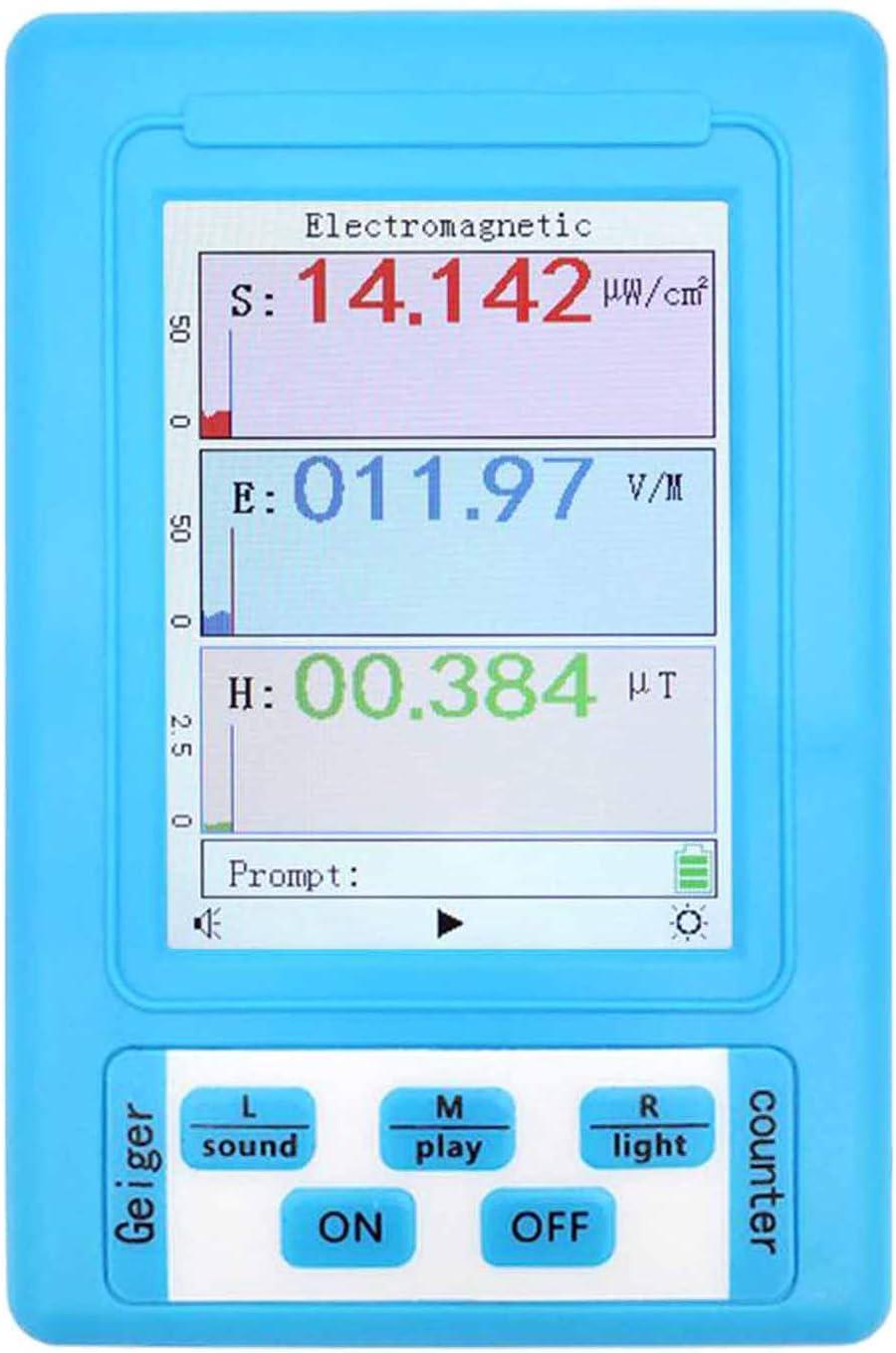 FITYLE Medidor EMF, medidor de alta precisión de mano Mini Digital LCD EMF Detector de radiación de campo electromagnético contador de prueba de dosímetro