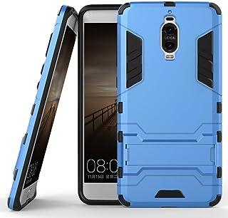 جراب لهاتف Huawei Mate 9 Pro (5.5 بوصة) 2 في 1 مقاوم للصدمات مع ميزة مسند غطاء واقٍ هجين مزدوج الطبقات ازرق