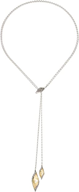 Classic Chain Wave Lariat Necklace