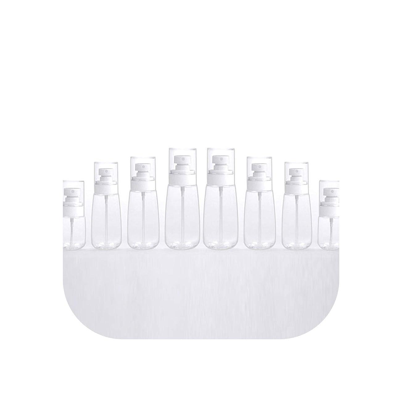 30 100ミリリットルカラフルな透明な香水スプレーボトルファインスプレー詰め替え旅行サブボトルアトマイザー旅行コンテナボトルポンプ、60ミリリットル、クリア