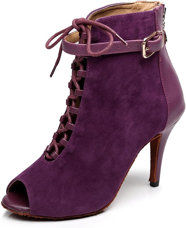 CDSO Women's Ballroom Dance shoes Latin Salsa Party Dance shoes Sandals 3.36 inch Heel