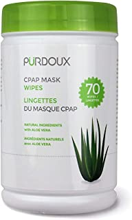 PÜRDOUX CPAP Mask Wipes, Aloe Vera, Canister of 70 Wet Wipes