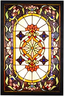 Home Equipment Retro LED Mural Wall Lamp Style Stained Glass Living Room Foyer Wall Sconce Light for Dining Room Bar Cafe ...