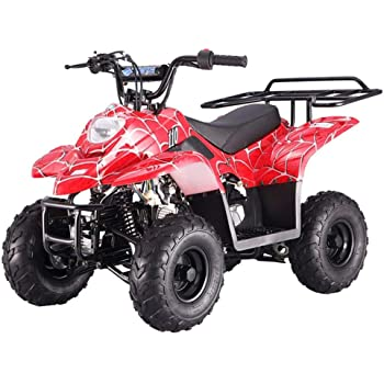 amazon com 110cc atv four wheelers fully automatic 4 stroke engine 16 tires quads for kids carbon fiber automotive 110cc atv four wheelers fully automatic