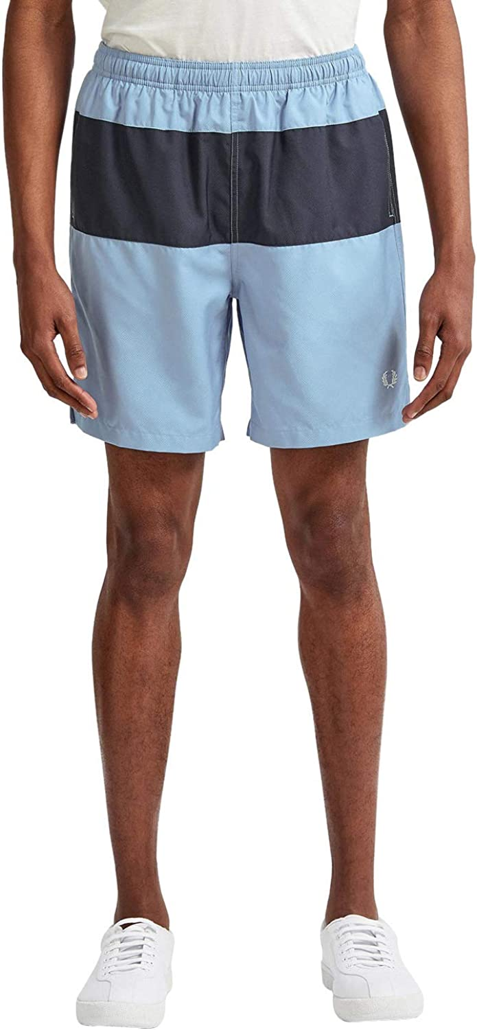 Fred Perry Men's Panelled Swim Shorts S3501 608 Navy