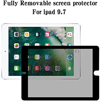 【 Fully Removable 】 iPad 9.7 Privacy Screen ZOEGAA iPad 9.7 Removable Privacy Screen Protector 【Anti-Spy Filter 】 Anti-Glare Compatible with iPad Pro 9.7