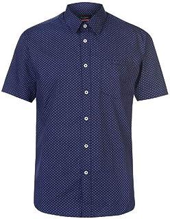 72b298efc05a58 Pierre Cardin - Camisa Casual - con Botones - con Botones - Manga Corta -  para