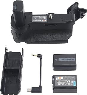DSTE VG-A6300 Vertical empuñadura de batería para Sony A6400 A6300 A6000 DSLR Cámara con 2-Pack NP-FW50