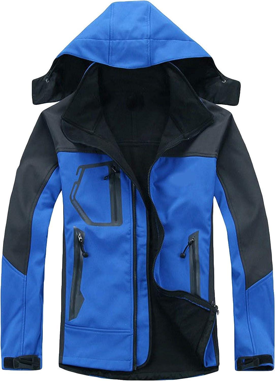 Misaky Unisex Ski Jacket Coat Warm Winter Waterproof Windbreaker Hooded Raincoat Jacket Lightweight Rain Jacket