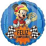 ANAGRAM Globo Mickey Coches Feliz Cumpleaños 45cm (Emapquetado)